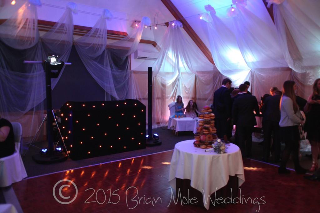 Wedding DJ setup at Wotton House
