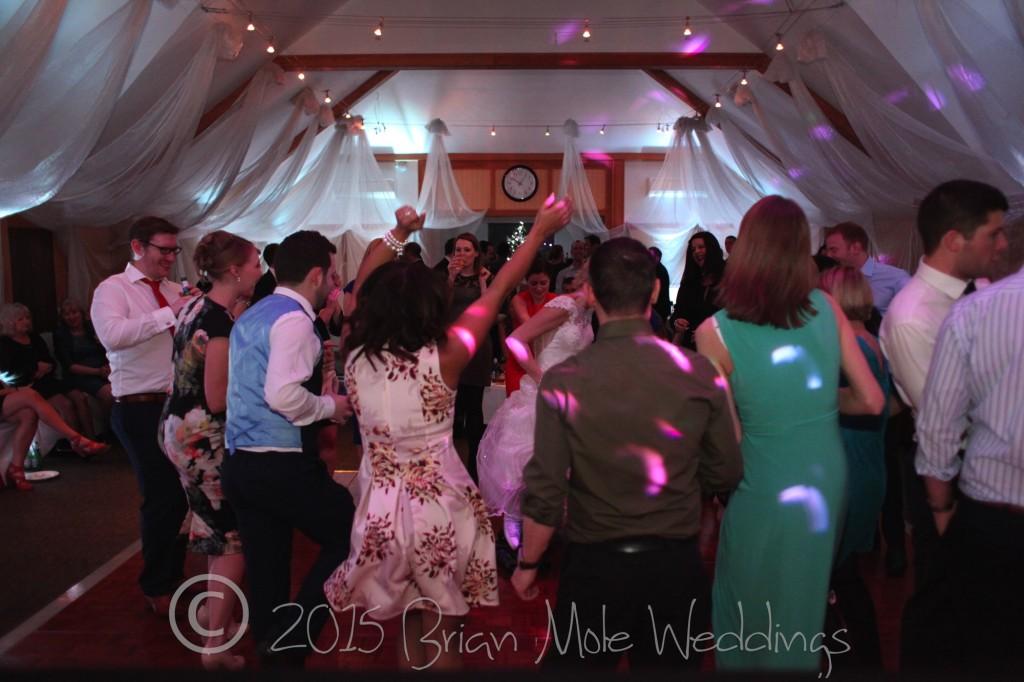 full dance floor at a wedding