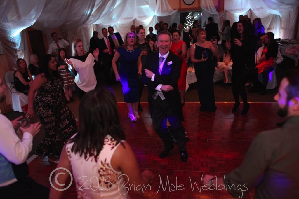 Dad dancing at Warren House wedding
