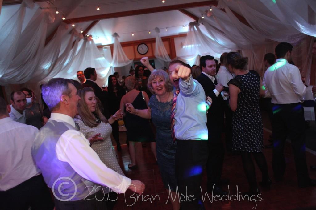 Wedding party, everyone having fun