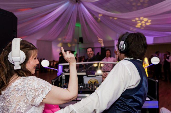 Amy and Jon DJ
