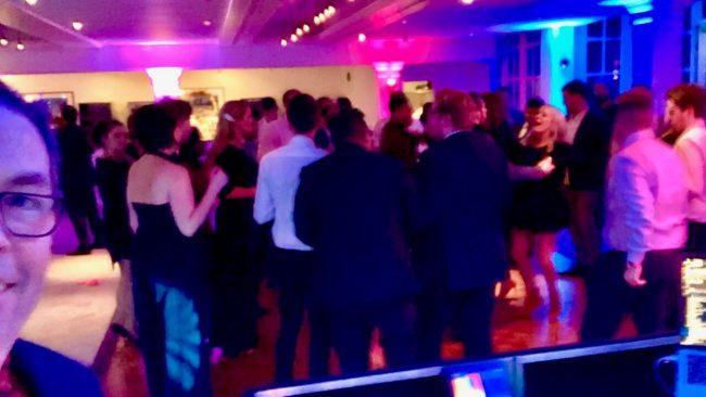 DJ Brian Mole rocking the crowd at Hampton Court Palace