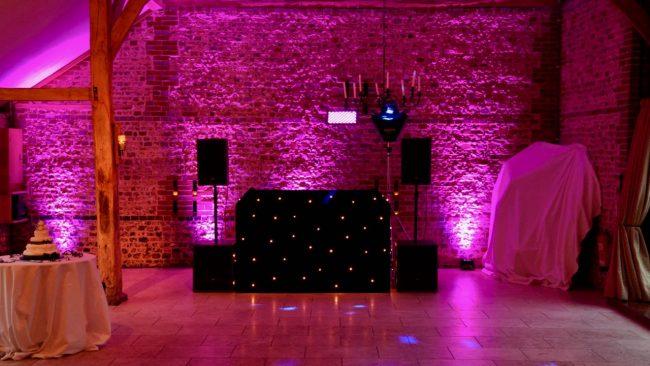 Disco for wedding at Upwaltham Barns