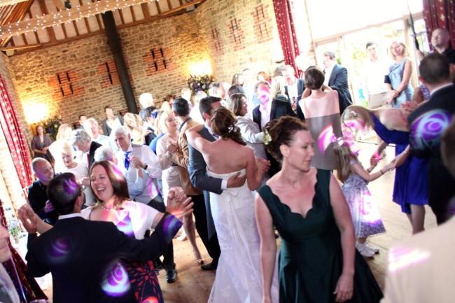 wedding dancing in the barn