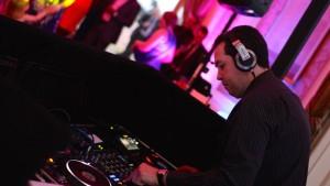 Wedding DJ Brian Mole mixing on CDJ's