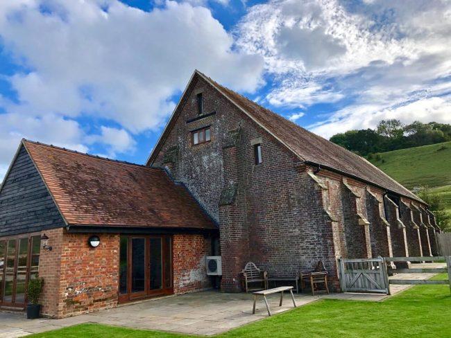 Long Furlong Barn for Adam and Ollie 's wedding day