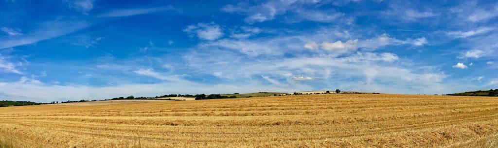 view from Long Furlong Barn