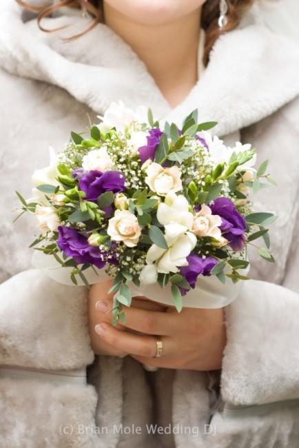 cool winter wedding bride